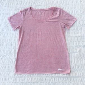 Nike Dri-Fit Logo Workout Tee Pink M